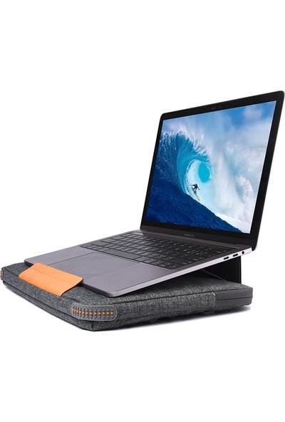 """WIWU Laptop Evrak Çantası 13.3"""" Darbe Emici Dahili Satandlı Omuz Askısız El Çantası 001169 Gri"""