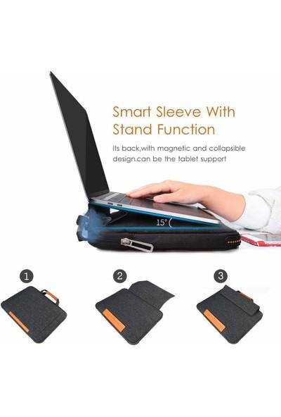 """WIWU Laptop Evrak Çantası 13.3"""" Darbe Emici Dahili Satandlı Omuz Askısız El Çantası 001171 Siyah"""