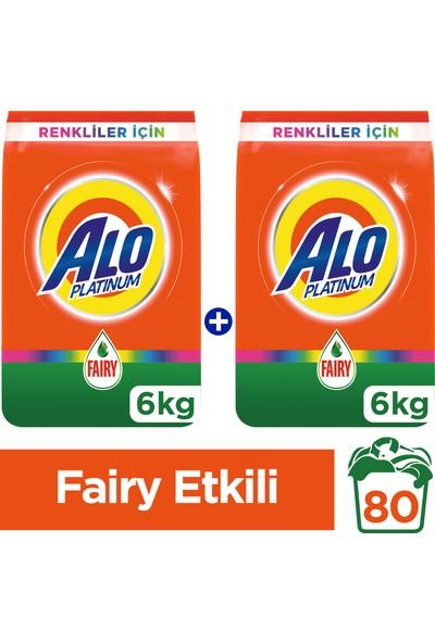 Alo Platinum Toz Çamaşır Deterjanı Fairy Etkili Renkliler İçin 6 kg + 6 kg