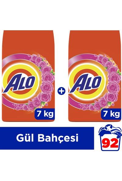 Alo 7 kg + 7 kg Toz Çamaşır Deterjanı Beyazlar ve Renkliler İçin Gül Kokusu
