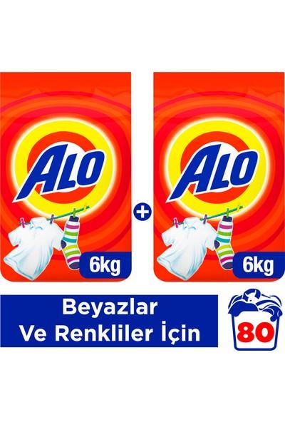 Alo 6 kg + 6 kg Toz Çamaşır Deterjanı Beyazlar ve Renkliler İçin