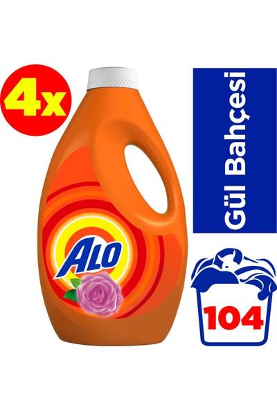 Alo Sıvı Çamaşır Deterjanı 26x4 Yıkama Gül Bahçesi Beyazlar ve Renkliler