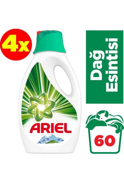 Ariel Sıvı Çamaşır Deterjanı Dağ Esintisi 15 Yıkama 4'lü Paket