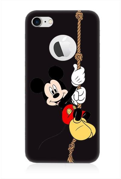 Teknomeg Apple iPhone 7 Siyah Ruber Mickey Mouse