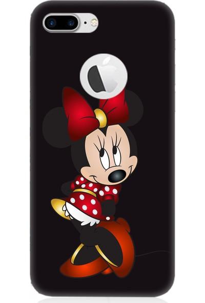 Teknomeg Apple iPhone 7 Plus Siyah Ruber Minnie Mouse