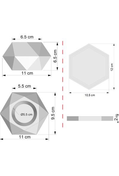 Hadji Design Geometrik Kaktüs Saksısı