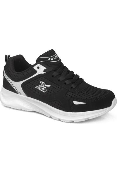 Awidox Erkek Siyah Beyaz Günlük Spor Ayakkabı