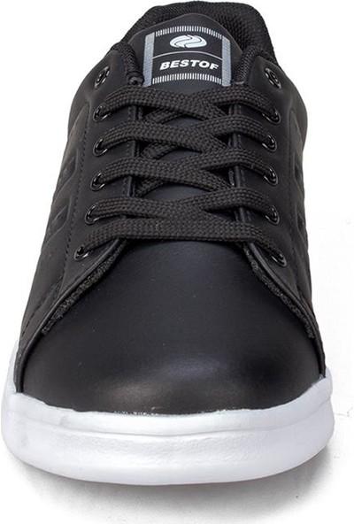 Bestof Erkek Siyah Beyaz Spor Ayakkabı
