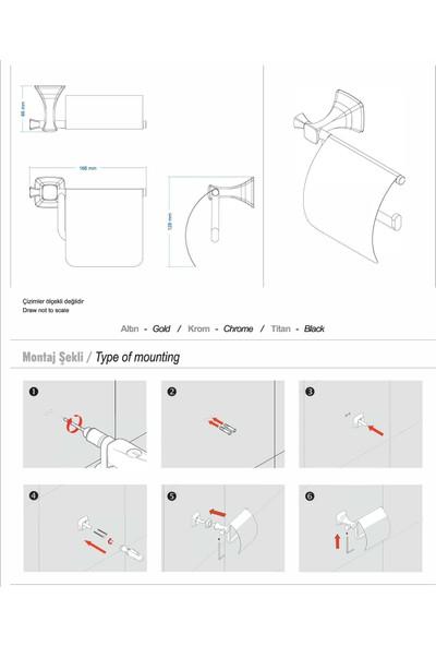 Duxxa Eiffel Kapaklı Tuvalet Kağıtlık A.1408