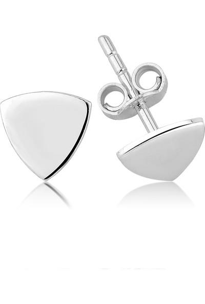 Girabella Üçgen Minimal Gümüş Çivi Küpe