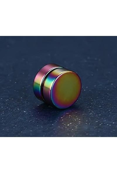 VipBT Gökkuşağı Mıknatıslı Deliksiz 6 mm Manyetik Çift Küpe