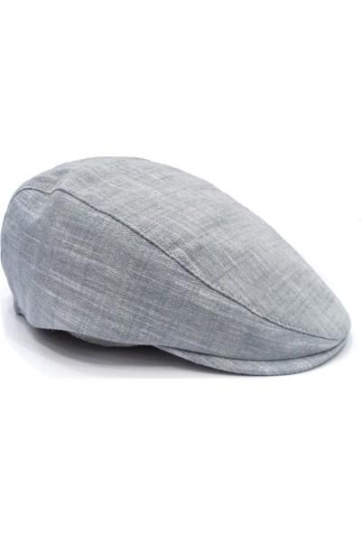 Külah Gri Pamuklu Yazlık Kasket Şapka