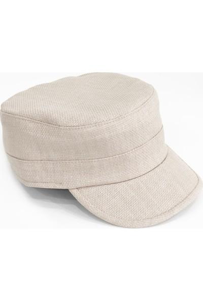 Külah Keten Krem Outdoor Şapka