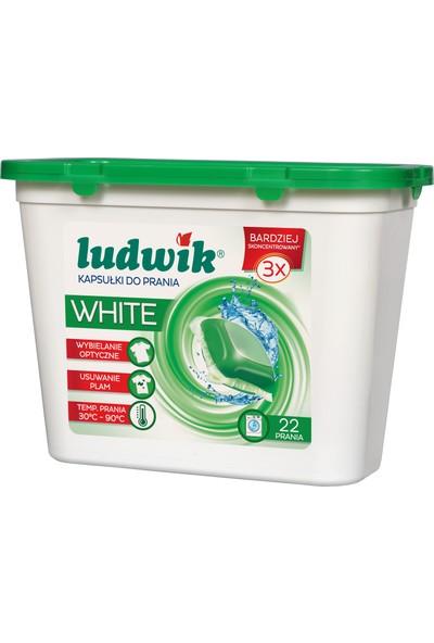 Ludwik Sıvı Kapsül Çamaşır Deterjanı Beyazlar İçin 22 Yıkama