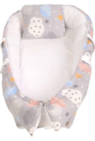 Lava Baby Babynest Bebek Yatağı - Gri Bulut