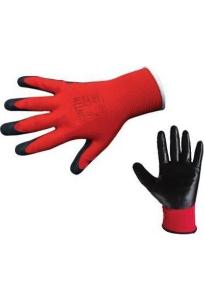 Güntim Eldiven N05 Nitril Kırmızı Siyah 10