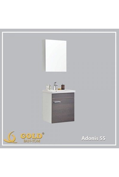 Gold Ban-Yom Adonis Banyo Dolabı + Ayna Ünitesi + Seramik Lavabo