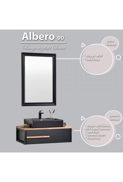 Gold Ban-Yom Albero 90 cm Banyo Dolabı + Seramik Lavabo