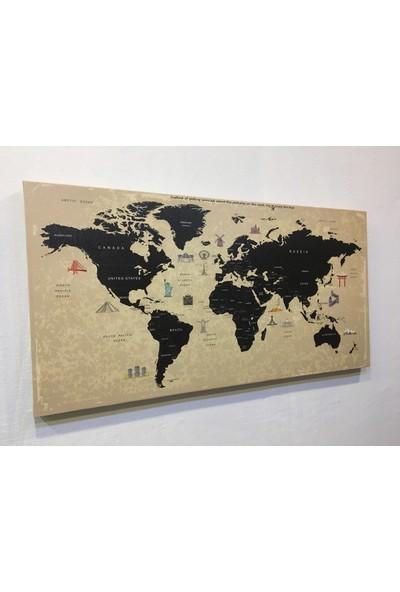 Mapofx Dünya Haritası - Kanvas Dünya Haritası