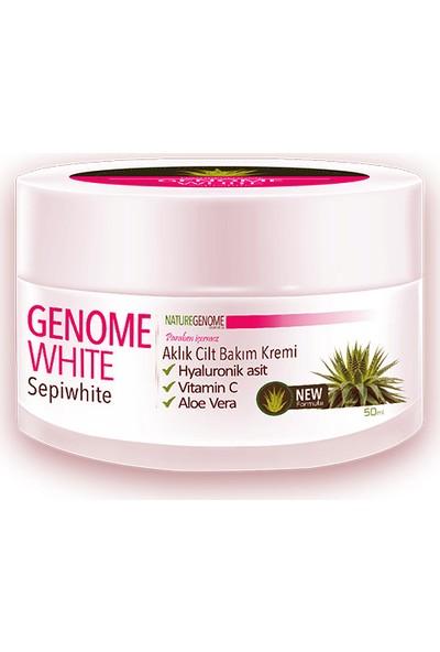 Genome White Aklık Cilt Balım Kremi, Beyazlatıcı Krem 50 ml