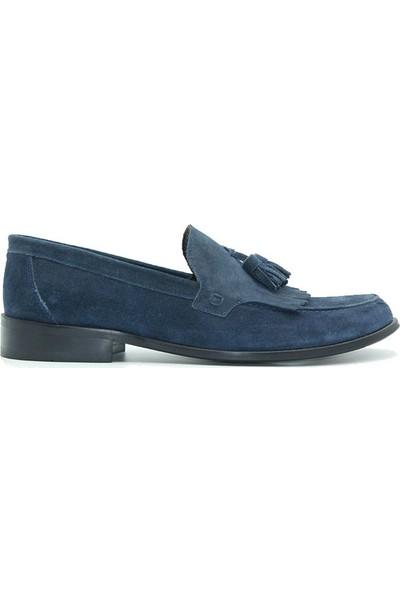 Riccardo Colli 312 Ricardo Colli Erkek Ayakkabı Lacivert Nubuk