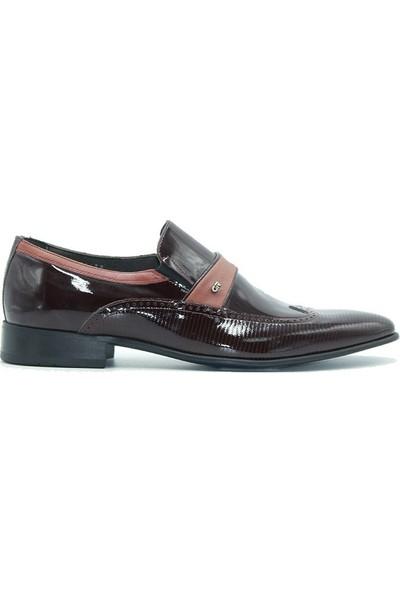 Marcomen 5020 Scotland Erkek Ayakkabı Bordo Rugan