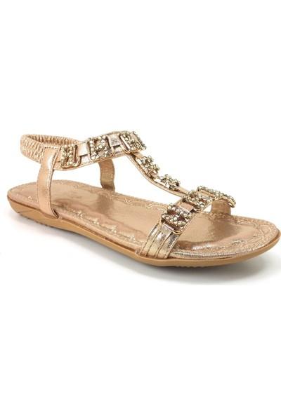 Guja 204-22 Günlük Bayan Sandalet Altın