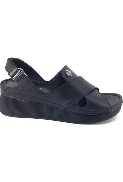 Mammamia 1280 Günlük Bayan Sandalet Siyah