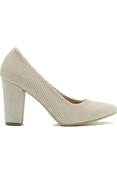 Aktenli 32165 Kadın Ayakkabı Krem Petek
