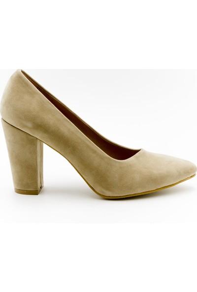 Aktenli 1832165 Kadın Ayakkabı Ten Süet