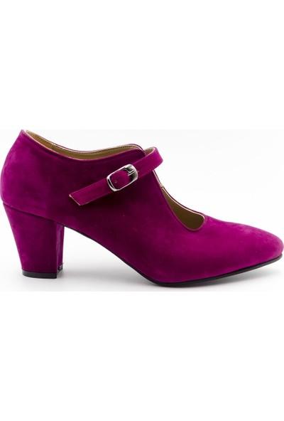 Aktenli 829201 Kadın Ayakkabı Fuşya Süet