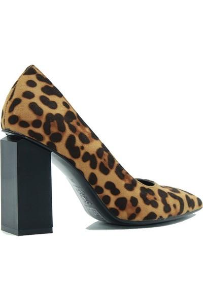 Lonar 264 Lonar Kadın Topuklu Ayakkabı Leopar