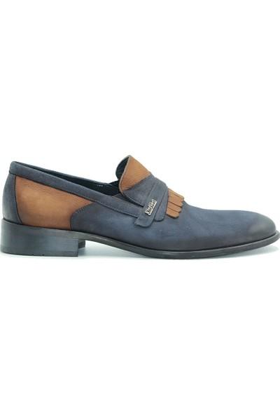 Tuğrul Ayakkabı 5001 Erkek Günlük Ayakkabı Lacivert-Taba