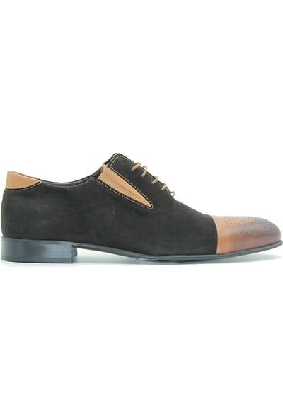 Tuğrul Ayakkabı 12111 Cherchi Erkek Ayakkabı Siyah Taba