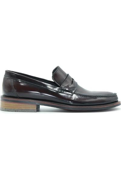 Tuğrul Ayakkabı 312 Erkek Ayakkabı Bordo Rugan