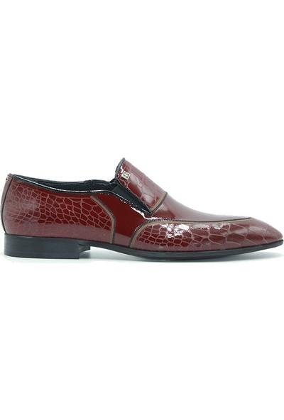 Tuğrul Ayakkabı 316 Erkek Ayakkabı Bordo Rugan