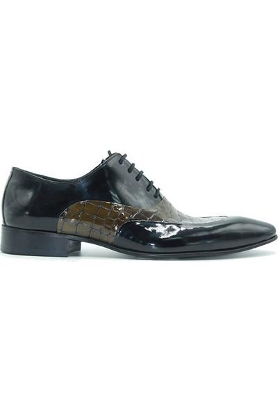 Tuğrul Ayakkabı 512 Erkek Ayakkabı Siyah Rugan