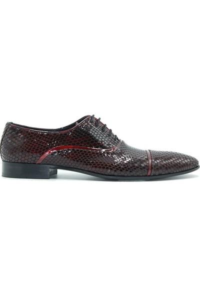 Tuğrul Ayakkabı 514 Erkek Ayakkabı Bordo Rugan