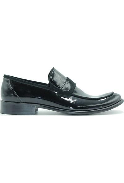 Tuğrul Ayakkabı 6033 Erkek Ayakkabı Siyah Rugan