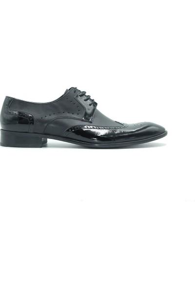Tuğrul Ayakkabı 607 Erkek Ayakkabı Siyah Rugan