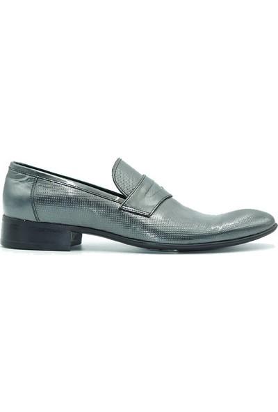 Tuğrul Ayakkabı 6017 Erkek Ayakkabı Gri Rugan