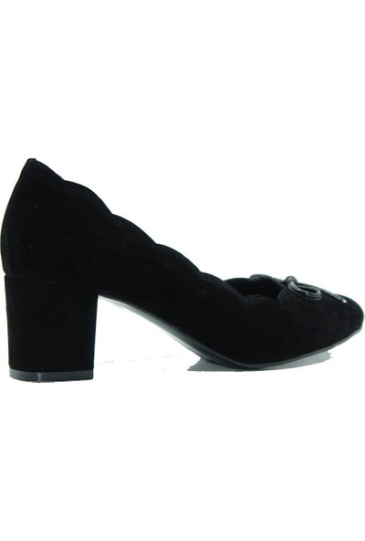 Park Moda 150-1193 Park Moda Kadın Topuklu Ayakkabı Siyah Süet