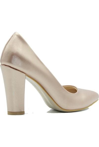 Park Moda 149-601 Park Moda Kadın Topuklu Ayakkabı Pudra
