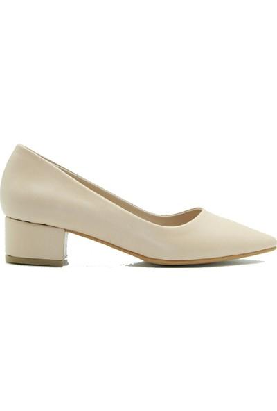 Park Moda 150-1914 Park Moda Kadın Topuklu Ayakkabı Ten Cilt