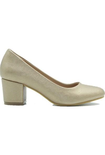 Aktenli 100 Kadın Ayakkabı Pudra