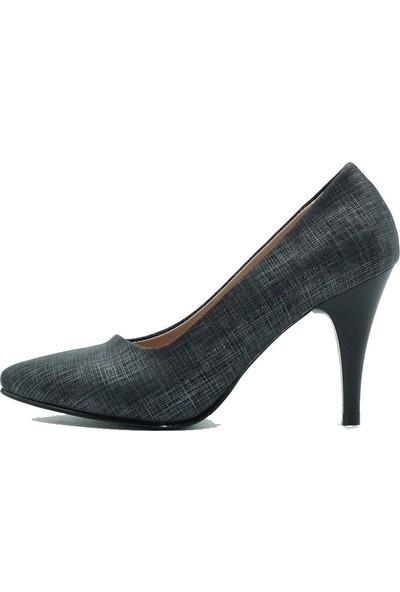 Aktenli 658 Kadın Topuklu Ayakkabı Gri