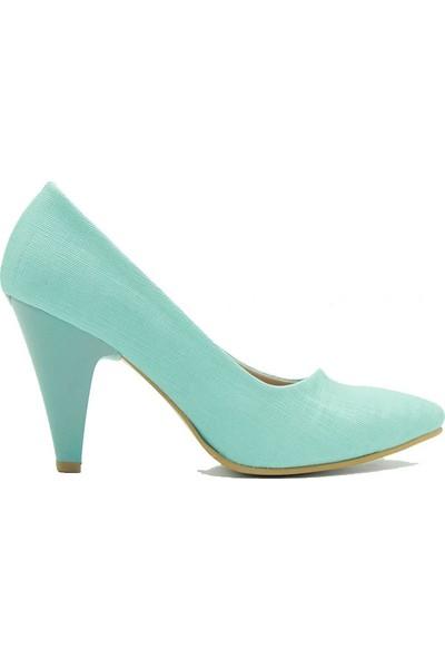 Aktenli 658 Kadın Topuklu Ayakkabı Yeşil