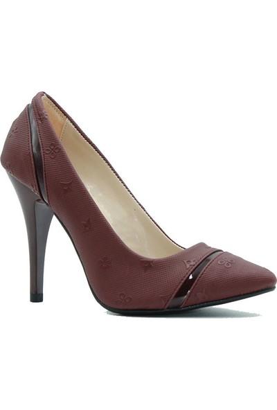 Arıcı 767 Arıcı Kadın Topuklu Ayakkabı Bordo