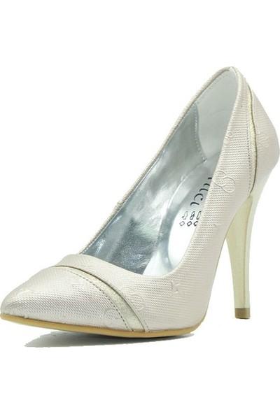 Arıcı 767 Arıcı Kadın Topuklu Ayakkabı Altın