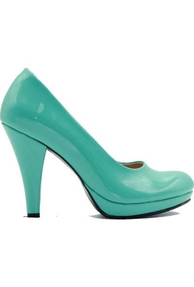 Aktenli 1515 Kadın Topuklu Ayakkabı Yeşil